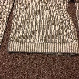 J. Crew Sweaters - J Crew Chevron Stitched Grey Sweater NWT